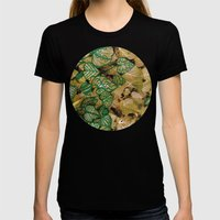 Leaves Evolved 3 Womens Fitted Tee Black SMALL