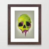 Liquid Skull Framed Art Print