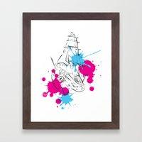 out boat Framed Art Print