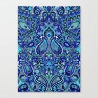 Paisley Blue Canvas Print