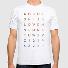 Letter Love - Color Mens Fitted Tee Ash Grey SMALL