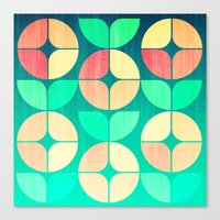 Cherry Denim Pattern Canvas Print