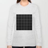 Black Grid /// www.pencilmeinstationery.com Long Sleeve T-shirt