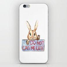 Angry rabbit iPhone & iPod Skin