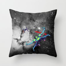 Pop X-Wing and Tie Fighter Throw Pillow