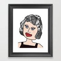 Digital Paper Doll 04 Framed Art Print