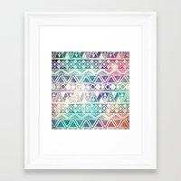 Tribal Orbit Framed Art Print