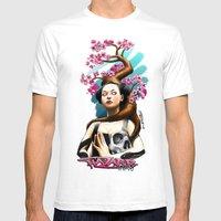 Death Brings Life Mens Fitted Tee White SMALL