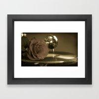 Music and roses. Framed Art Print