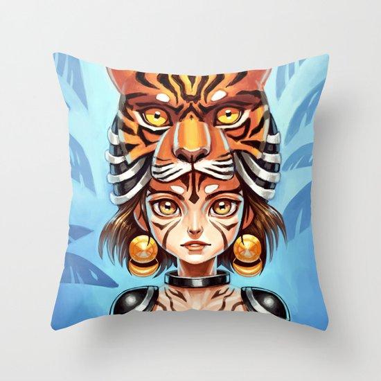 Tiger Tribe Throw Pillow