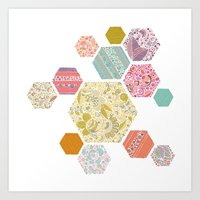 Summer honeycomb Art Print