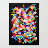 Space Shapes Canvas Print