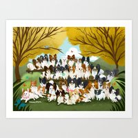 33 Paps Art Print