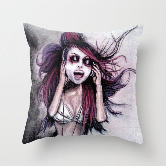 LISTEN TO MUSIC Throw Pillow