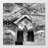 Summer space, smelting selves, simmer shimmers. 24, grayscale version Canvas Print