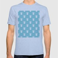 Rabbit Blue Mens Fitted Tee Athletic Blue SMALL