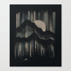 A Wolf In The Night... Canvas Print