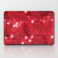 Faux Red Sequin Backgrou… iPad Case