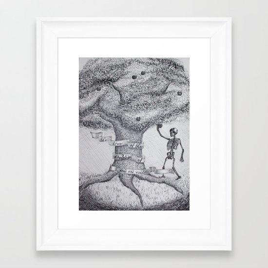 TREE OF GOOD AND EVIL Framed Art Print