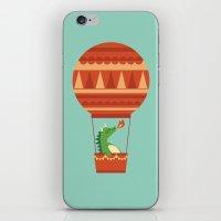 Dragon On Hot Air Balloon iPhone & iPod Skin