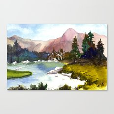 At the river Canvas Print