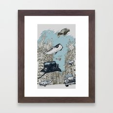 The Streets of Atlantis Framed Art Print