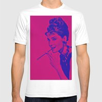 Pop Glamour Mens Fitted Tee White SMALL