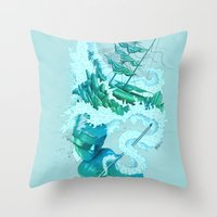 Shipwreck Sonata Throw Pillow