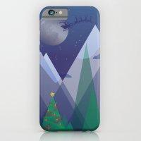Christmas Night Alpine Flight iPhone 6 Slim Case