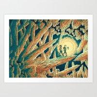 The Journey Below Art Print