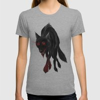 North American Predators… Womens Fitted Tee Athletic Grey SMALL