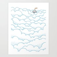 Peak above the clouds Art Print