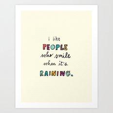 when it's raining Art Print