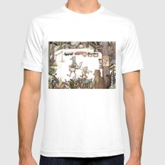 Mr.Brown is late for the market Mens Fitted Tee White SMALL