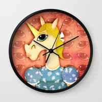 Big Eyes Unicorn Wall Clock
