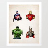Polygon Heroes - Avenger… Art Print