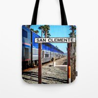 San Clemente Surfliner Tote Bag
