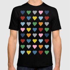 64 Hearts Mens Fitted Tee Black SMALL