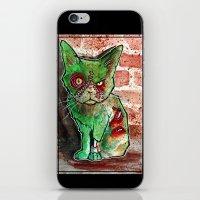 Mean Green Cute Zombie Cat iPhone & iPod Skin