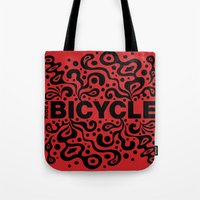 Ride A Bicycle - Funky Tote Bag