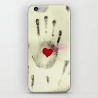 Hand & Heart iPhone & iPod Skin