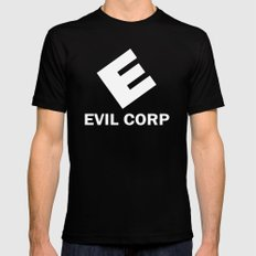 Evil Corp Mens Fitted Tee Black SMALL