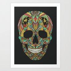 Ethno skull Art Print