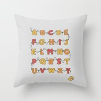 From A to Zzz Throw Pillow