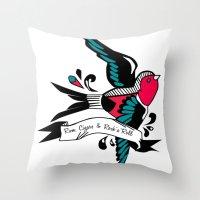 Hirondelle Throw Pillow
