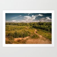 Russian landscapes 1 Art Print