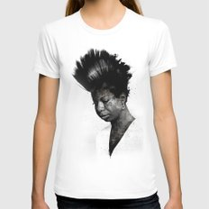 NINA'S NOT DEAD Womens Fitted Tee White SMALL
