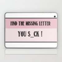 Find The Missing Letter Laptop & iPad Skin