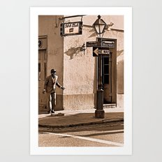 New Orleans Street Dancer Art Print