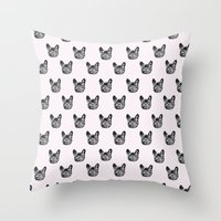 Polka Dog Throw Pillow